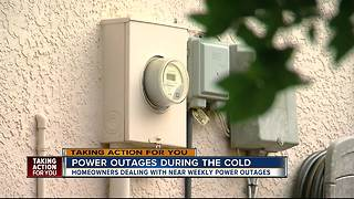 Power outages during the cold - Video