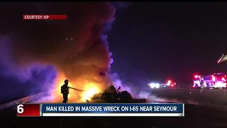Semi driver killed in crash on I-65 near Seymour - Video
