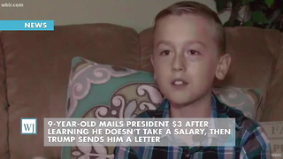 9-Year-Old Mails President $3 After Learning He Doesn't Take a Salary, Then Trump Sends Him a Letter - Video