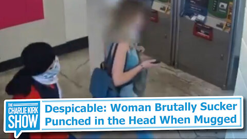 Despicable: Woman Brutally Sucker Punched in the Head When Mugged