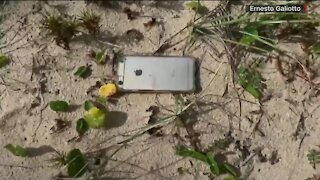 Man finds iPhone after it falls from plane