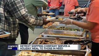 Detroit Shipping Company serves a holiday meal to those in need