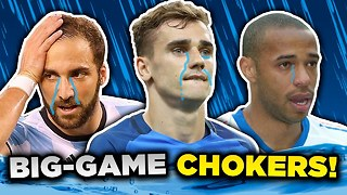 10 Players Who CHOKE in Big Games! | Henry, Griezmann & Ibrahimovic - Video