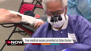 Free medical exams provided at Cobo Center - Video