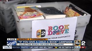 If You Give a Child a Book campaign collecting books for kids in Baltimore - Video