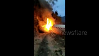 Rocket debris from Chinese space launch crashes near houses - Video