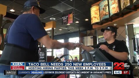 Kern Back In Business: Taco Bell hiring 250 new employees