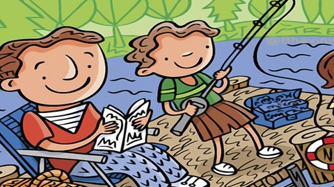 Try to find 7 hidden words in this fishing image