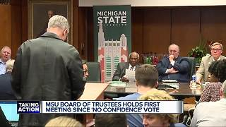 MSU Trustees chair says panel humbled by no-confidence vote - Video