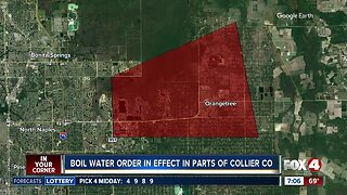 Boil water notice in effect in parts of Collier County
