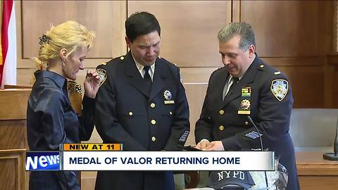 Medal of Valor returning home