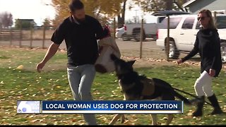Local women uses dog for protection on command