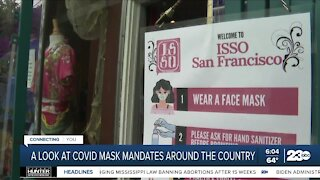 A look at COVID mask mandates around the country