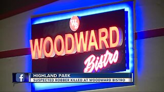 Suspected robber killed at Woodward Bistro in Highland Park