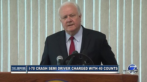 Full news conference: Prosecutors announce 40 counts against driver in deadly I-70 crash, fire
