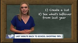 Last minute back to school shopping tips