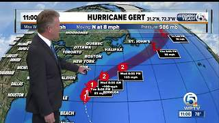 Gert becomes second hurricane of the 2017 season - Video