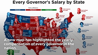 New Map Shows Salary for Every State Governor - Video