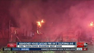 Abandoned house catches fire on East California Avenue