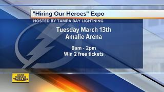 Tampa Bay Lightning hosting 'Hiring Our Heroes' job fair expo at Amalie Arena on Tuesday - Video