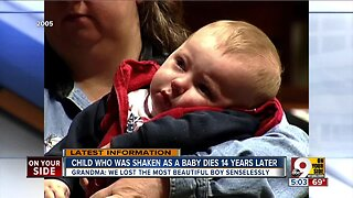 Child who was shaken as baby dies 14 years later