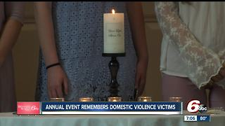 Domestic violence victims speak out at Indianapolis awareness event - Video