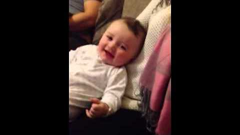 Baby Thinks The Word 'Donkey' Is Hilarious