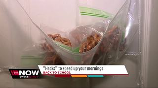 Hacks to speed up your Back to School mornings - Video
