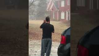 Georgia Bulldogs Fan Shouts at Neighbor - Video