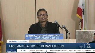 Civil rights activists demand action