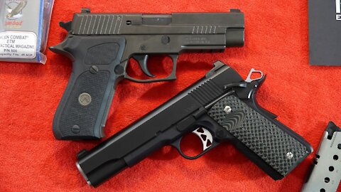 SIG Sauer P220 Legion vs. Dan Wesson Vigil Government 1911