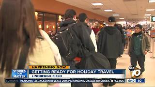 Getting ready for holiday travel in San Diego - Video