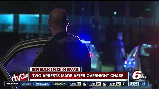Two caught after chase on Indy's northwest side - Video