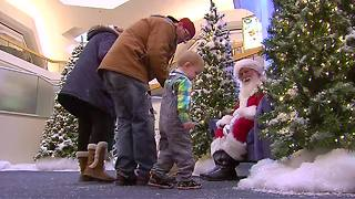 Kids with Autism Spectrum Disorder meet Santa in a sensory friendly environment