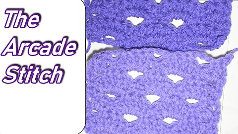 How to Crochet the Arcade Stitch