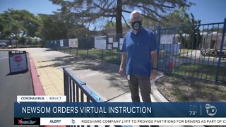 Newsom orders virtual learning