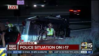 One on the run after pursuit ends in crash near I-17 and McDowell - Video