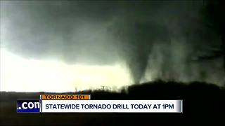 Statewide tornado drill is Wednesday afternoon