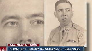 Community holding memorial service for veteran in Franklin - Video