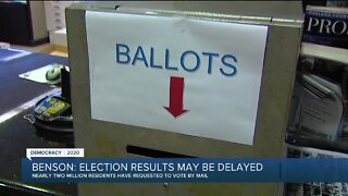 Benson: Election results may be delayed
