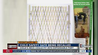 child safety gates being recalled