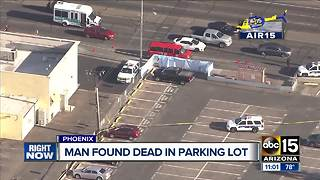 Man found dead under car in Phoenix - Video