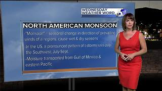 Rachel's Wednesday Wx Word: Monsoon Moisture - Video