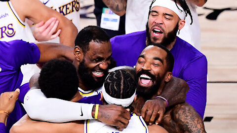 LeBron James, Lakers Celebrate Championship By Throwing Shade At Giannis Antetokounmpo
