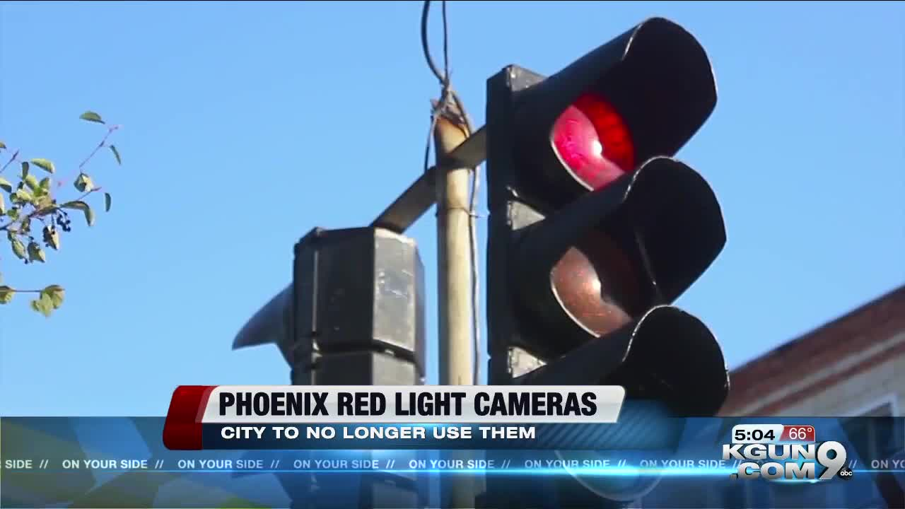 Phoenix to stop using red-light, speed-enforcement cameras