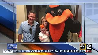 ABC2's Lauren Cook's daughter makes her Orioles debut - Video