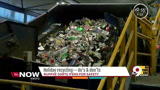 Holiday recycling dos and do nots - Video