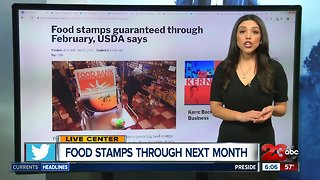 Food stamps guaranteed through next month
