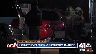 Police remove IED from Independence apartment - Video