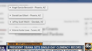 Obama pardons 78 people, 4 of them in Arizona - Video